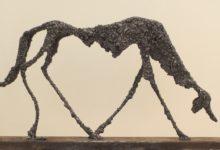 Le chien de Giacometti, acier soudé, 55x30cm