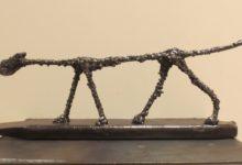 Le chat de Giacometti, acier soudé
