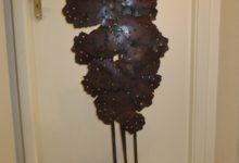 Arbre paravent, acier soudé, 118 cm